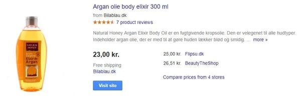 Google title argan oil
