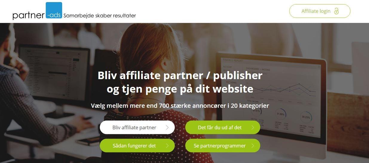 partner ads homepage