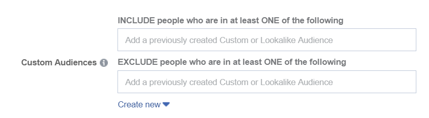 facebook exclude audience