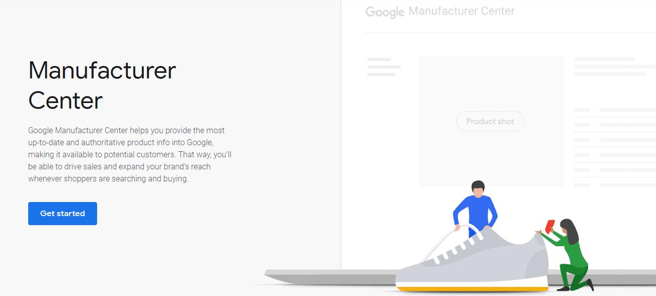 Google manufacturer Center get started