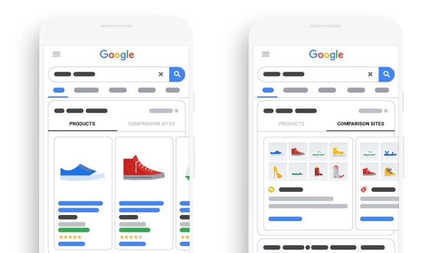 comparison listing ad google