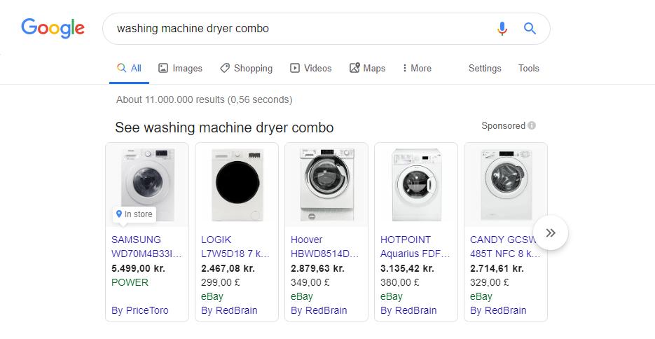 washing machine google manufacturer center